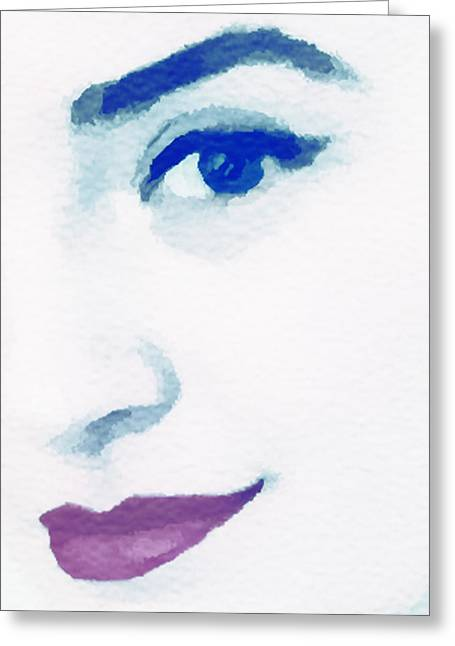 Almost Blue Greeting Card by Susan Leggett