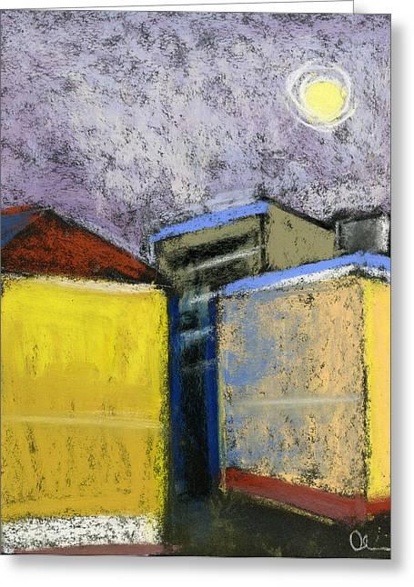 Almost Full Moon Greeting Card by Lelia Sorokina