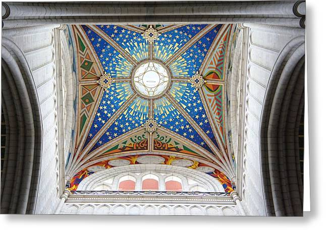 Almudena Cathedral Interior Greeting Card by Jenny Hudson
