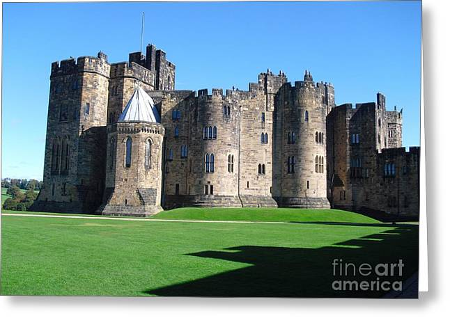 Greeting Card featuring the photograph Alnwick Castle Castle Alnwick Northumberland by Paul Fearn