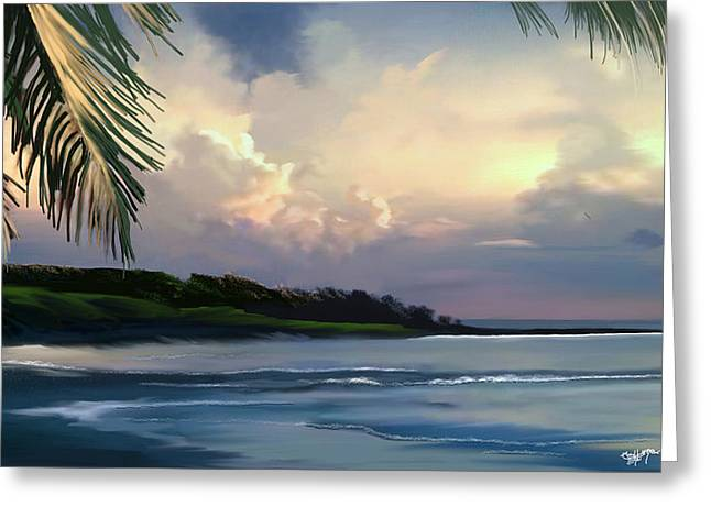 Greeting Card featuring the digital art Aloha by Anthony Fishburne