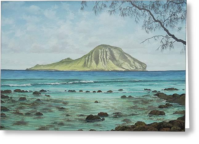 Aloha Kakahiaka Manana Greeting Card by Wallace Kong