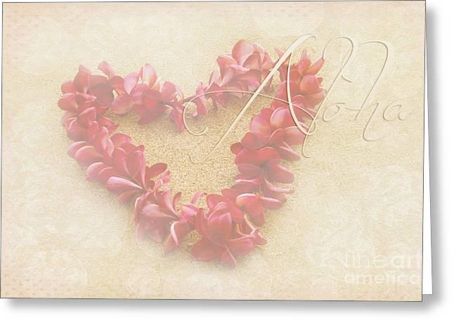 Aloha Lei Greeting Card by Sharon Mau