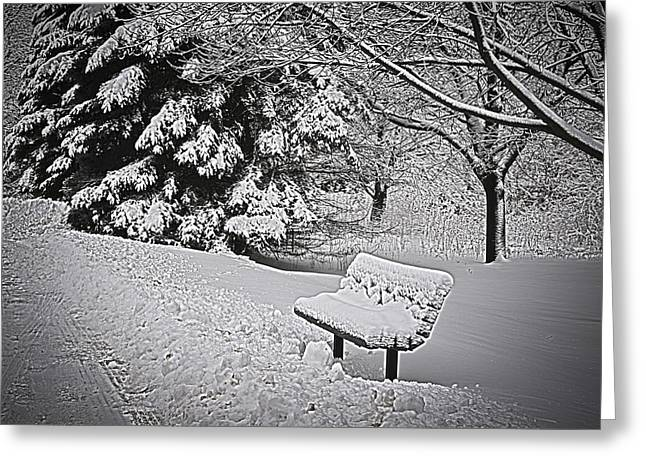 Greeting Card featuring the photograph Alone In The Park.... by Deborah Klubertanz