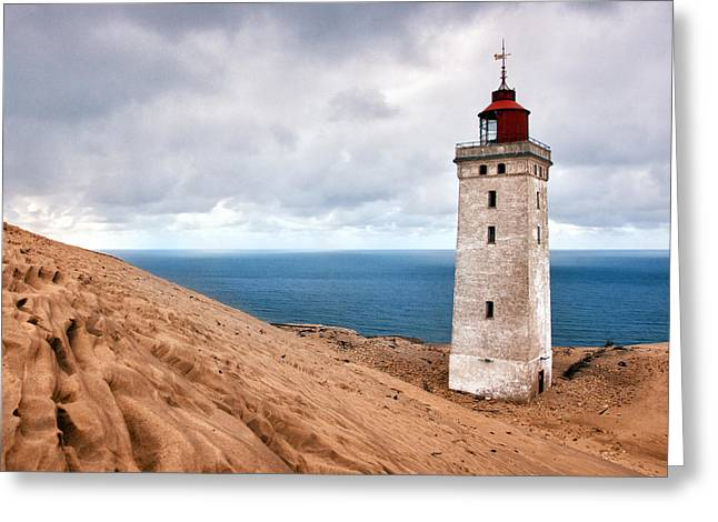 Lighthouse On The Sand Hils Greeting Card
