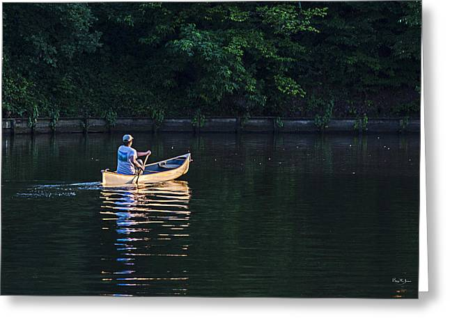 Alone On The Lake Greeting Card by Barry Jones