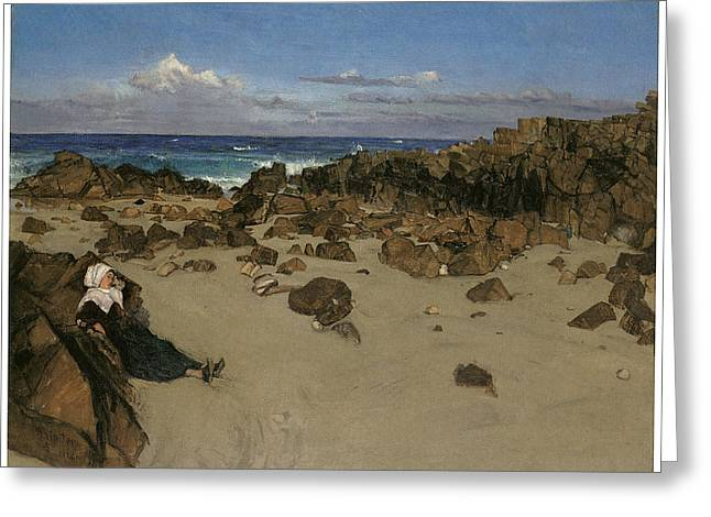 Alone With The Tide Greeting Card by James Abbott McNeill Whistler