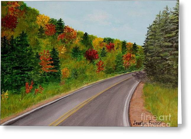 Along The Cabot Trail Greeting Card