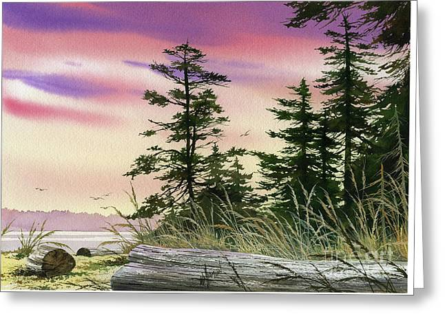 Along The Coast Greeting Card by James Williamson