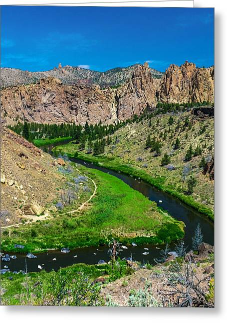 Along The Crooked River Greeting Card