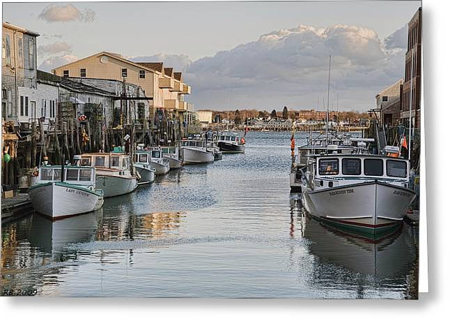 Greeting Card featuring the photograph Along The Docks by Richard Bean