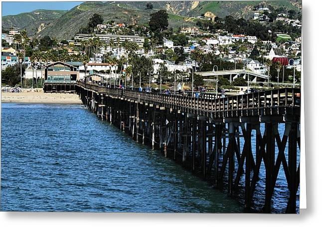Along The Pier Greeting Card by Michael Gordon