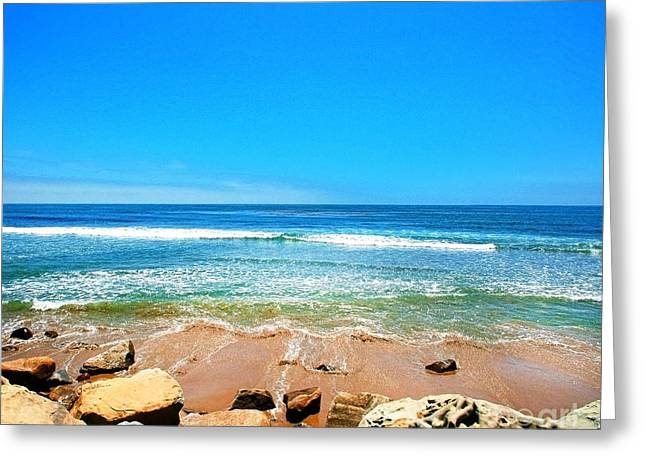 Along The Rincon California Surf Spot From The Book My Ocean Greeting Card by Artist and Photographer Laura Wrede