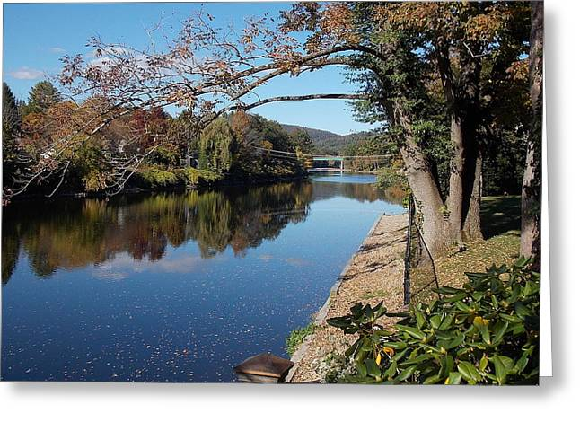 Along The River In Shelbourne Falls Greeting Card
