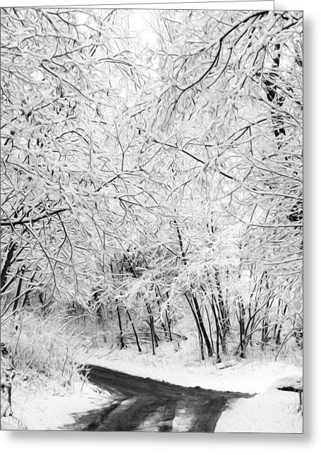Along The Road Greeting Card by Tracy Winter