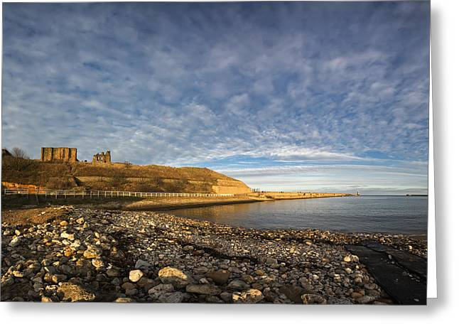 Along The Shoreline Of The River Tyne Greeting Card by John Short