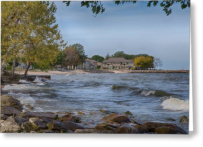 Greeting Card featuring the photograph Along The Shores Of Marblehead by John M Bailey