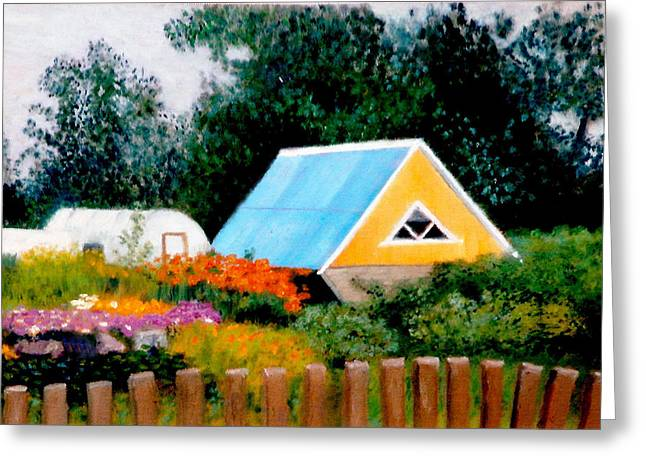 Along The Volga  Winner Art Quenchgallery.com Summer International Juried  Art Competition Greeting Card by Brent  Harris