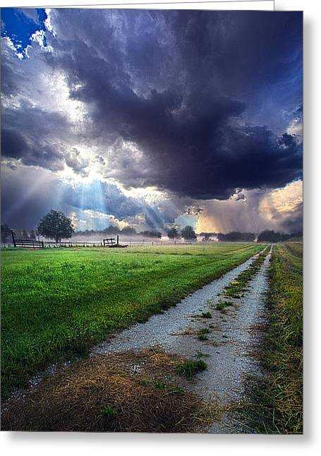 Along The Way Greeting Card by Phil Koch