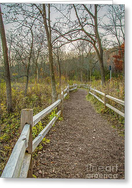 Along The Wehr Path Greeting Card