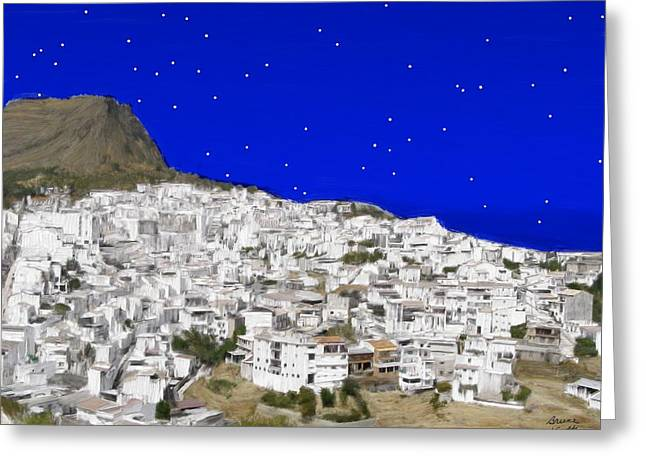 Alora Malaga Spain At Twilight Greeting Card by Bruce Nutting
