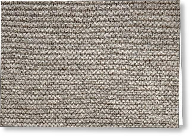 Alpaca Wool Knit Texture Greeting Card by Elena Elisseeva