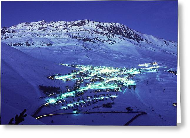 Alpe Dhuez, France Greeting Card by Del Mulkey