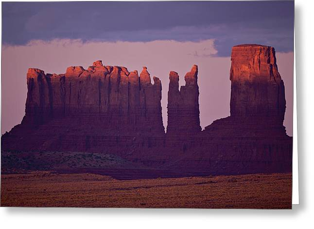 Alpen Glow On Monument Valley  C6j4475 Greeting Card