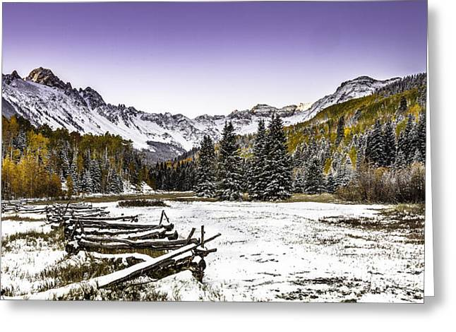 Alpen Glow Greeting Card by Steven Reed
