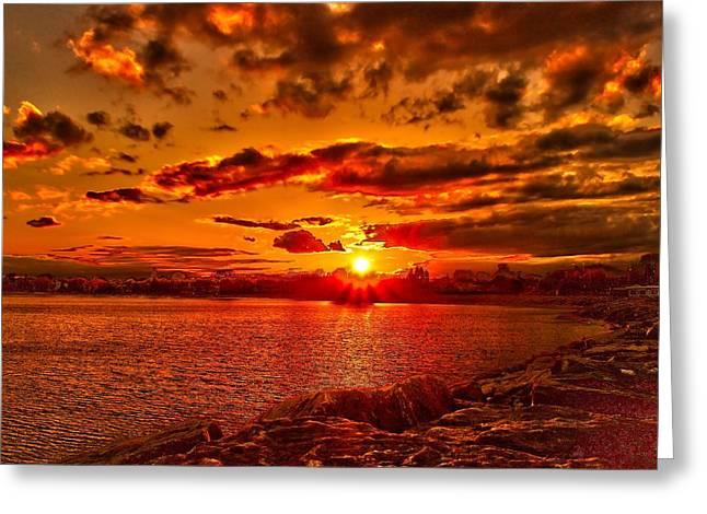 Alpena Sunset Greeting Card
