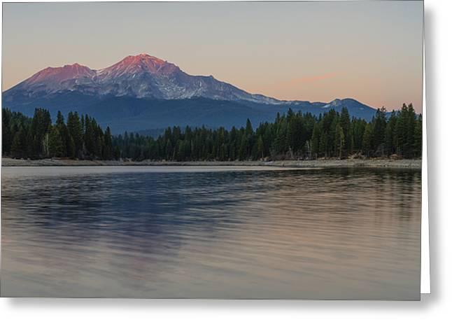 Alpenglow At The Lake Greeting Card by Loree Johnson