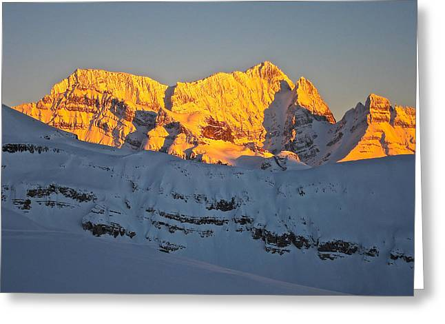 Alpenglow In Canada Greeting Card