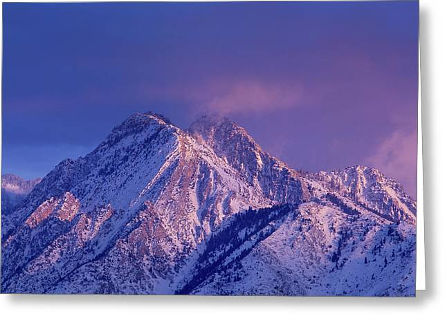 Alpenglow On Mount Olympus Greeting Card by Howie Garber