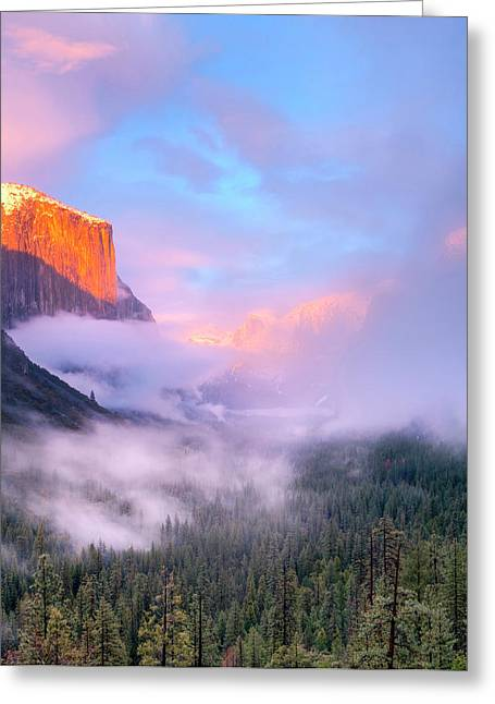Alpenglow Sunset Colors The Top Of El Greeting Card