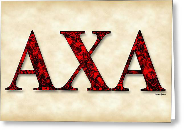 Alpha Chi Alpha - Parchment Greeting Card