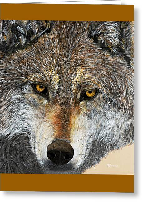 Greeting Card featuring the painting Alpha Male by Debbie Chamberlin