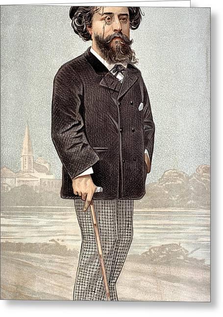 Alphonse Daudet (1840-97) Greeting Card by Granger