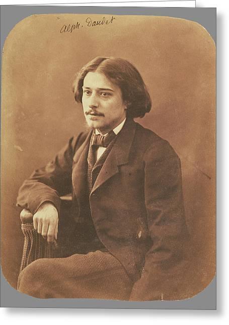 Alphonse Daudet Nadar Gaspard Félix Tournachon Greeting Card by Litz Collection
