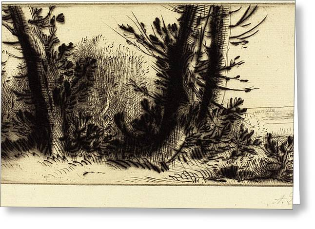 Alphonse Legros, Across Country A Travers Champ Greeting Card