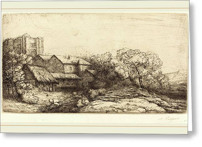 Alphonse Legros, Farm At The Monastery La Ferme De Labbaye Greeting Card by Litz Collection