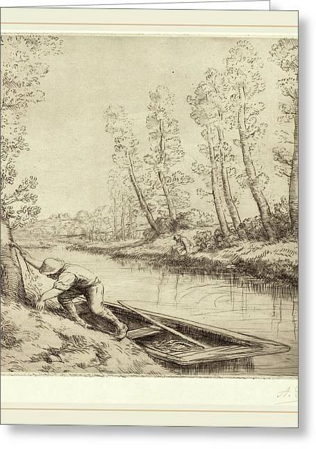 Alphonse Legros, Morning Along The River La Matin Sur La Greeting Card