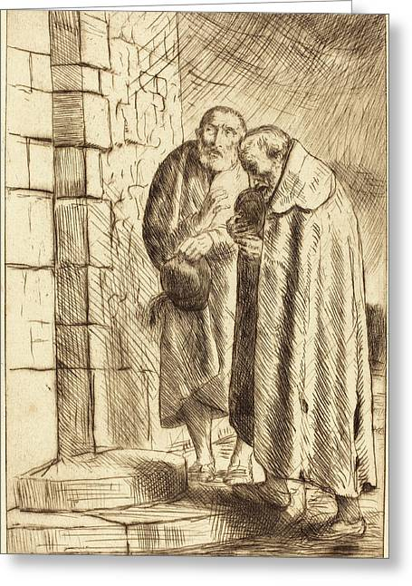 Alphonse Legros, Saint Peter And Saint Paul In The Door Of M Greeting Card by Quint Lox