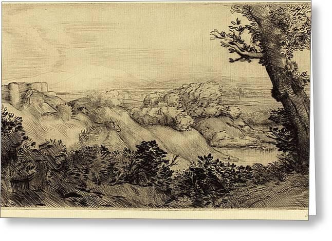 Alphonse Legros, Top Of The Hill Le Haut De La Colline Greeting Card by Quint Lox
