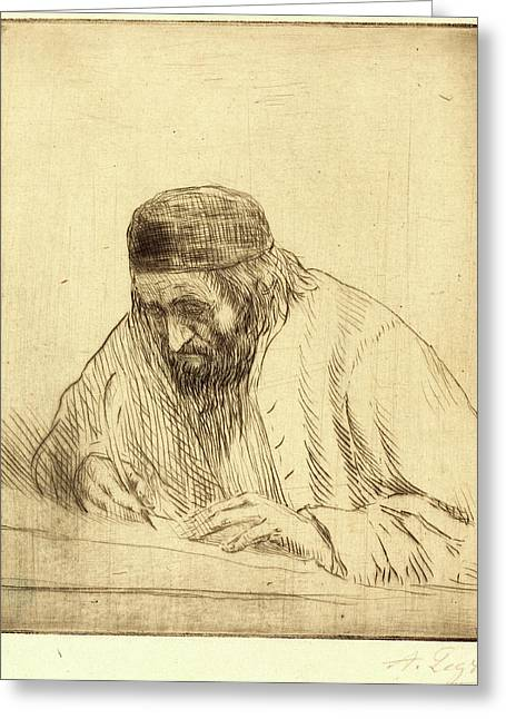 Alphonse Legros, Writer Lecrivain, French Greeting Card