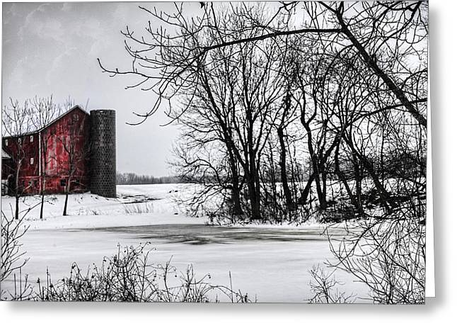Alpine Barn Michigan Greeting Card by Evie Carrier