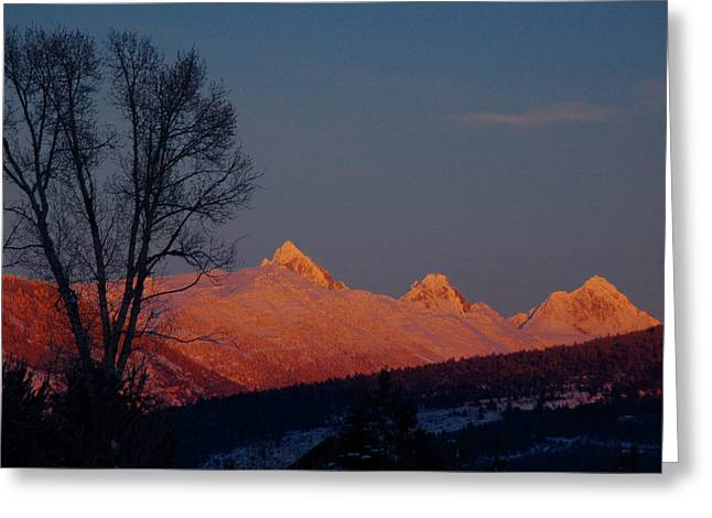 Greeting Card featuring the photograph Alpenglow by Raymond Salani III