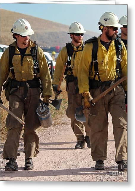 Alpine Hotshots Prepare To Ignite Cold Brook Prescribed Fire Greeting Card