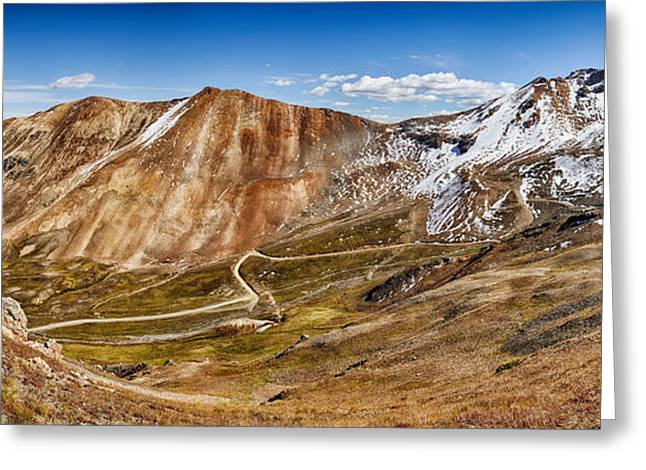 Alpine Loop Scenic Byway Trail Passing Greeting Card