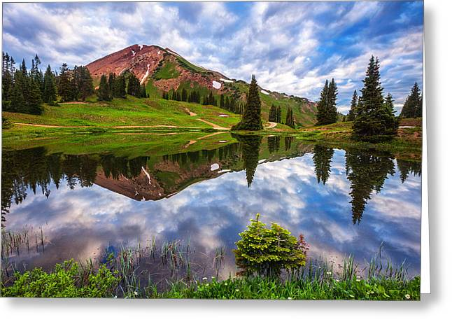 Alpine Morning Greeting Card by Darren  White