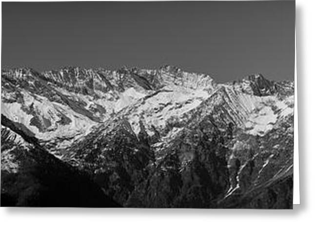 Alpine Peaks And Glaciers Greeting Card by Marco Affini